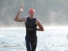 Exiting the Luray International swim
