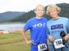 Smiling for the camera at Luray Sprint Triathlon