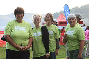 volunteers at luray triathlon