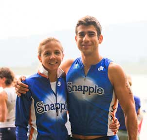 Katie and Matias Palavecino at Luray Triathlon